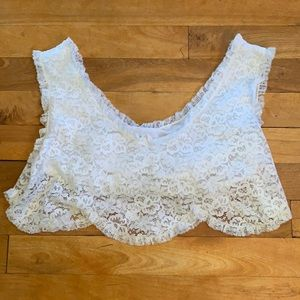 2/$25 - Vintage CAHILL Lingerie Lacey Top - Small